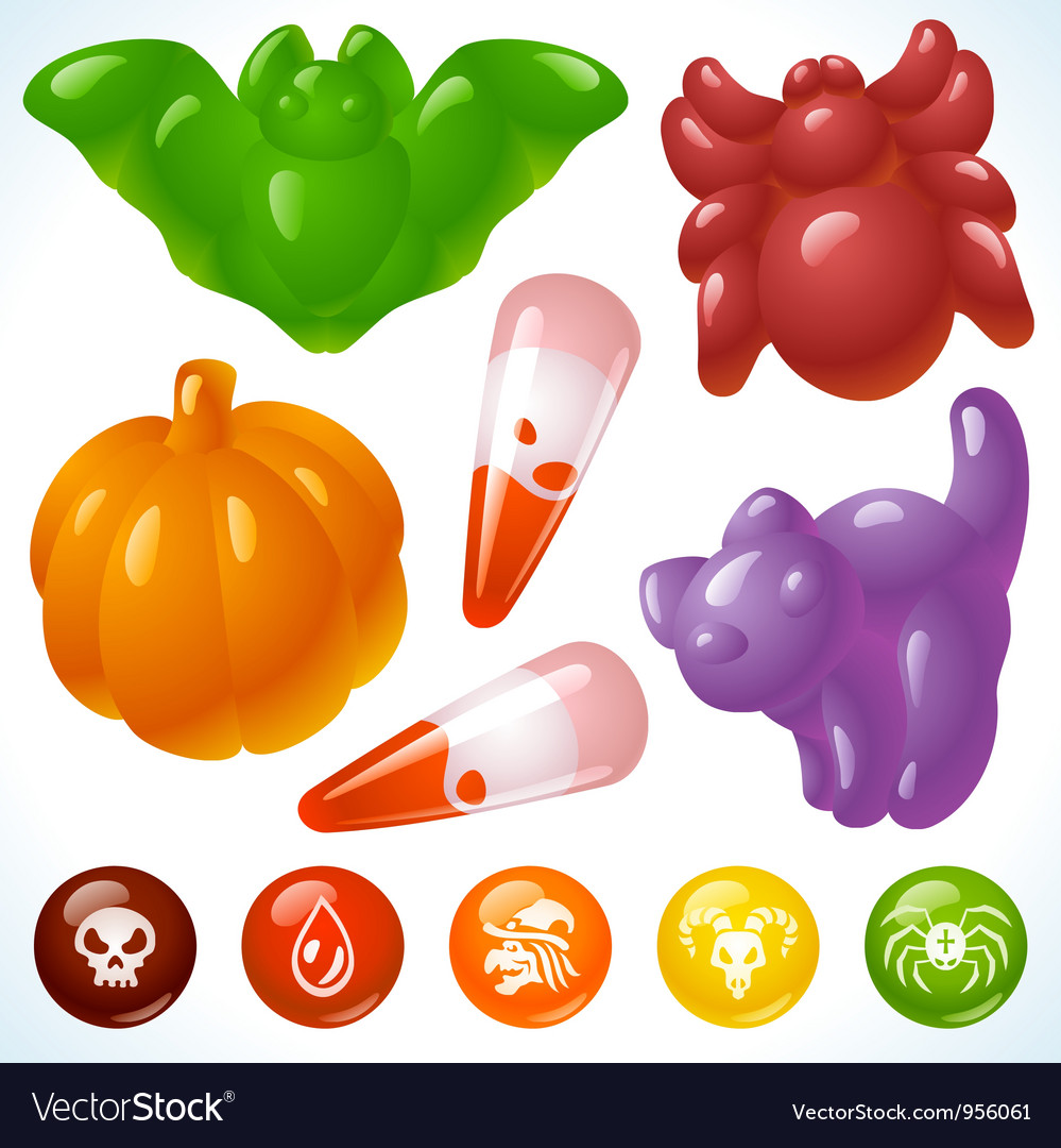 Halloween food creepy treats and tasty eats vector | Price: 3 Credit (USD $3)