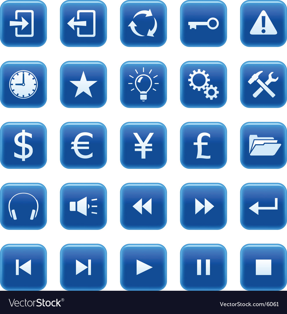 Icons buttons vector | Price: 1 Credit (USD $1)