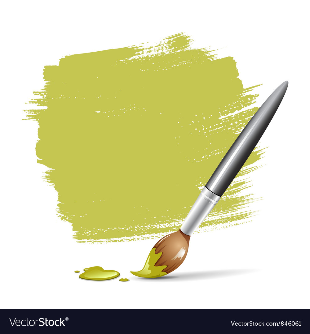 Paint brush green space your text vector | Price: 1 Credit (USD $1)