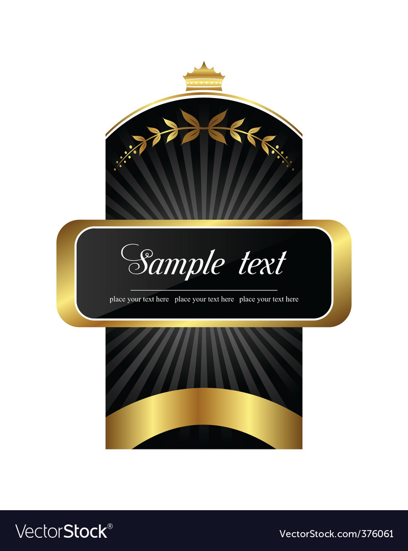 Product label vector | Price: 1 Credit (USD $1)