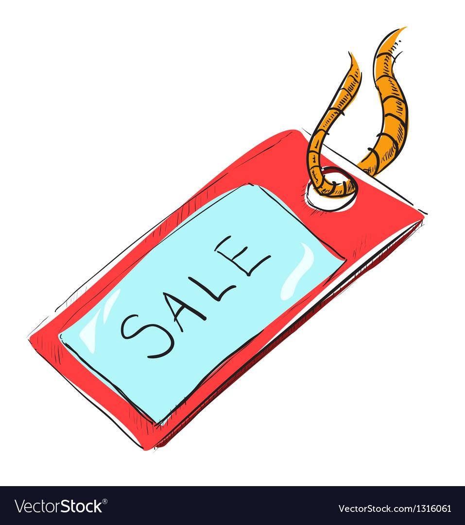 Sale luggage tag icon vector | Price: 1 Credit (USD $1)