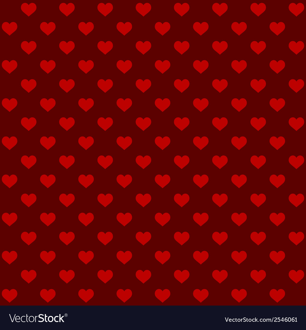 Seamless retro style pattern with hearts vector | Price: 1 Credit (USD $1)