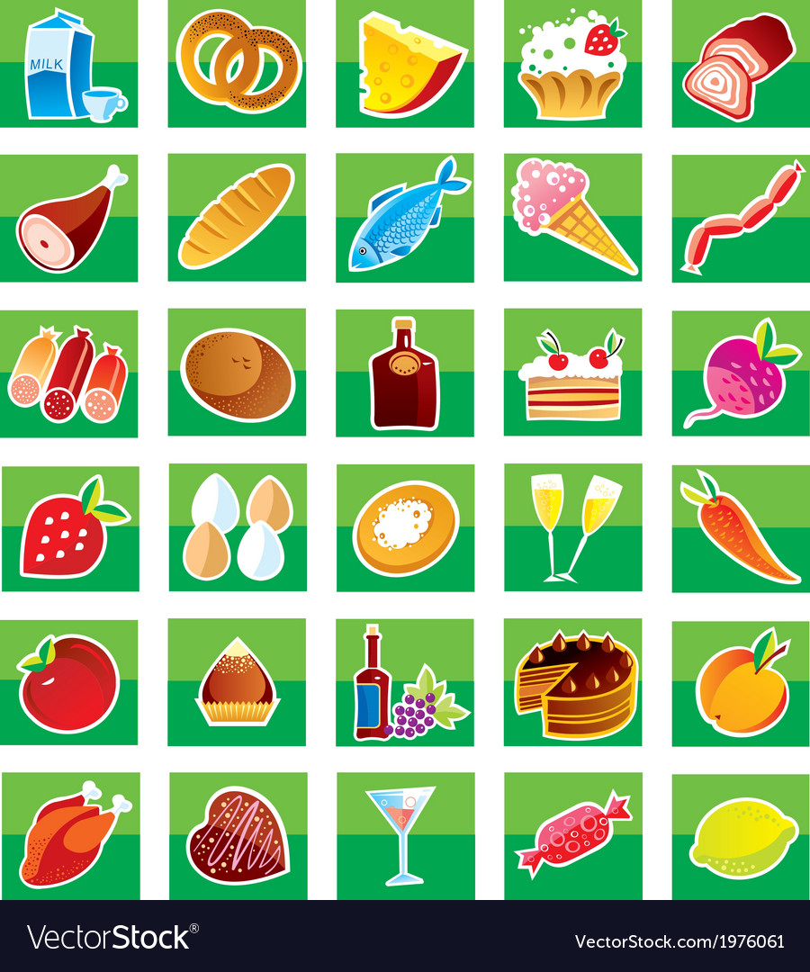 Set of products vector | Price: 1 Credit (USD $1)