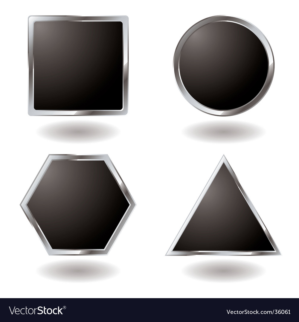 Silver button variation vector | Price: 1 Credit (USD $1)