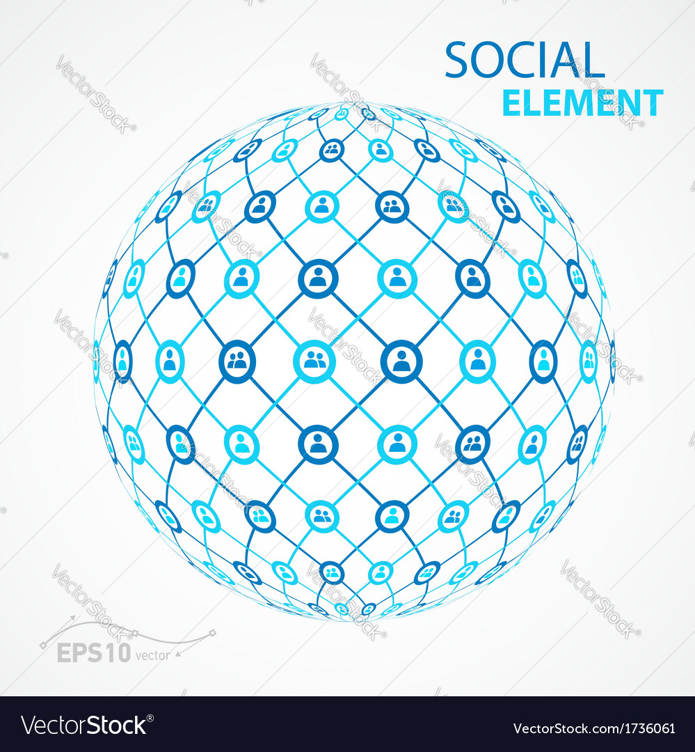Social element sphere vector | Price: 1 Credit (USD $1)