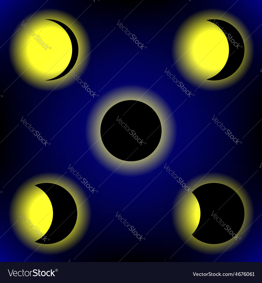 Solar eclipse phases vector   Price: 1 Credit (USD $1)