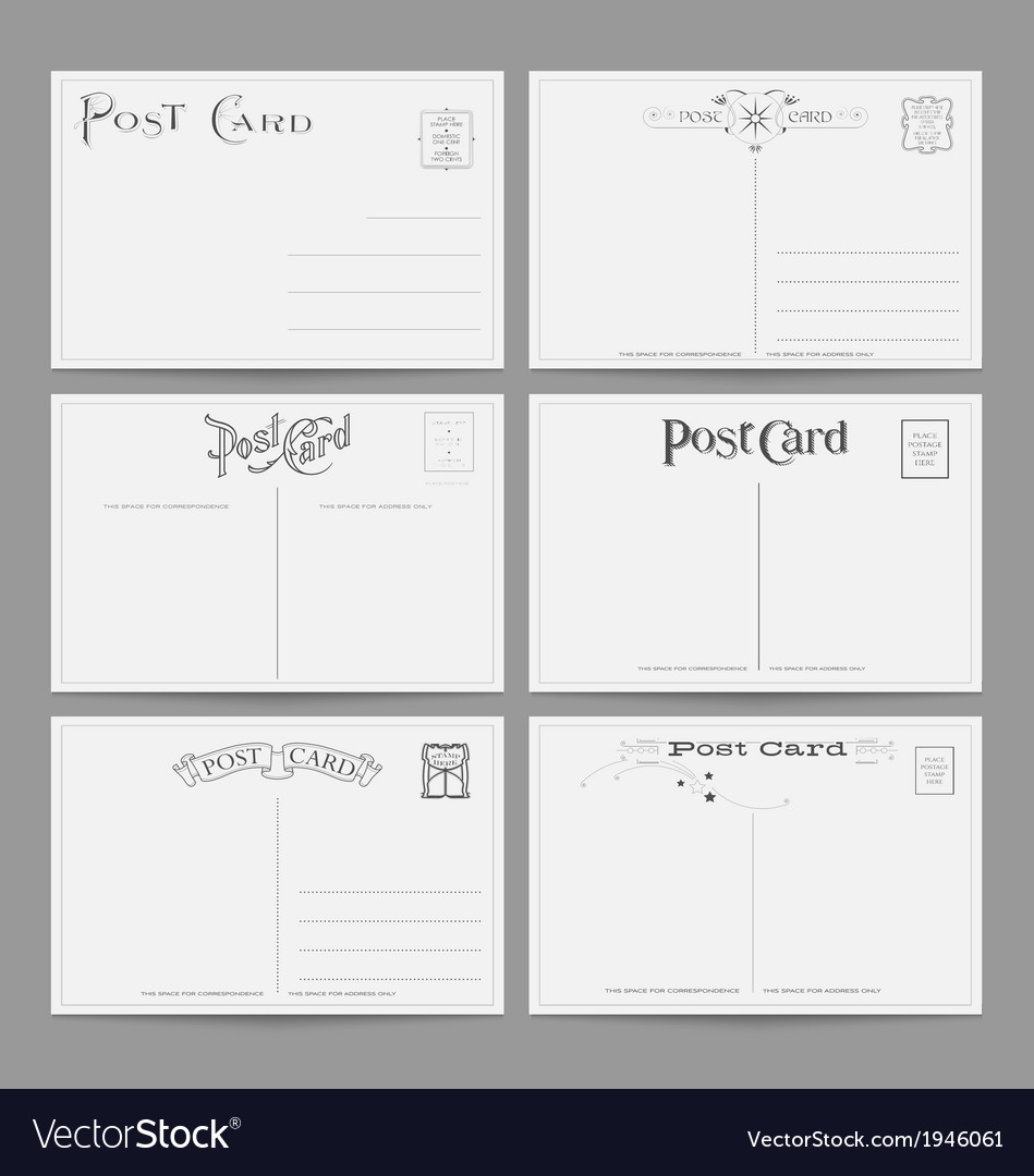 Vintage postcard designs vector | Price: 1 Credit (USD $1)