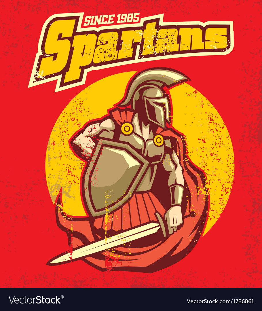 Vintage spartan mascot vector | Price: 3 Credit (USD $3)
