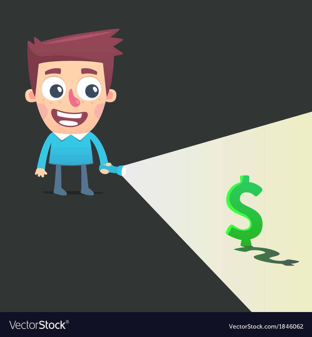Find a way to make money vector | Price: 1 Credit (USD $1)