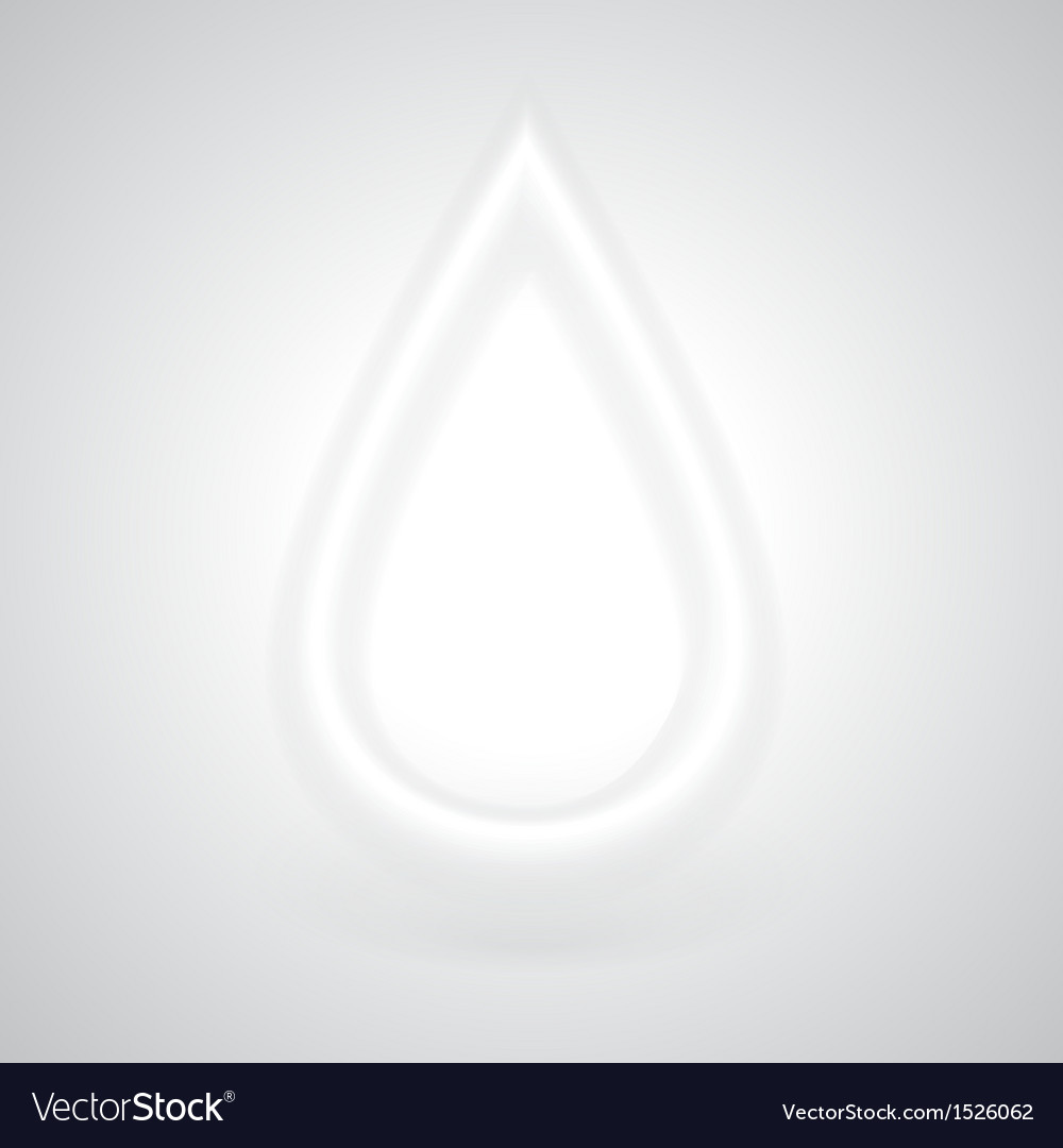 Glowing white drop with shadow vector | Price: 1 Credit (USD $1)