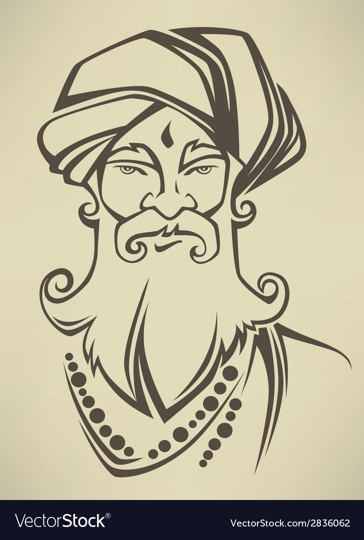 Indian man vector | Price: 1 Credit (USD $1)