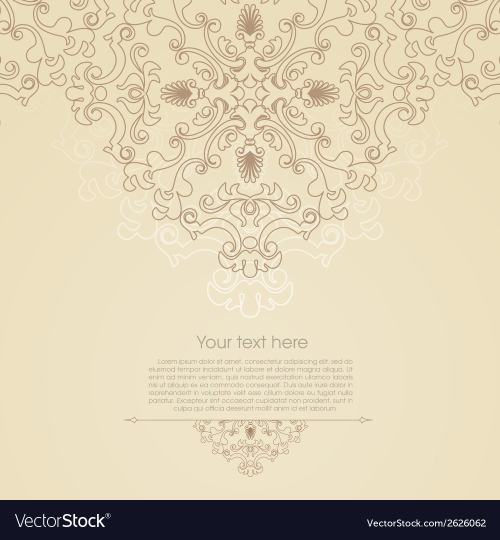 Oriental floral ornament background with place for vector | Price: 1 Credit (USD $1)