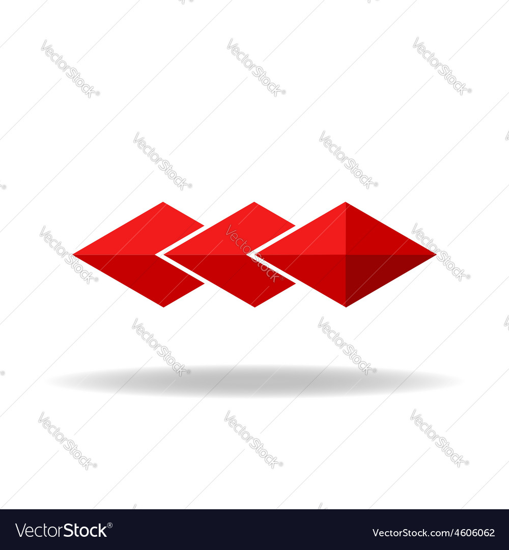 Red rhombus technology or business logo vector | Price: 1 Credit (USD $1)