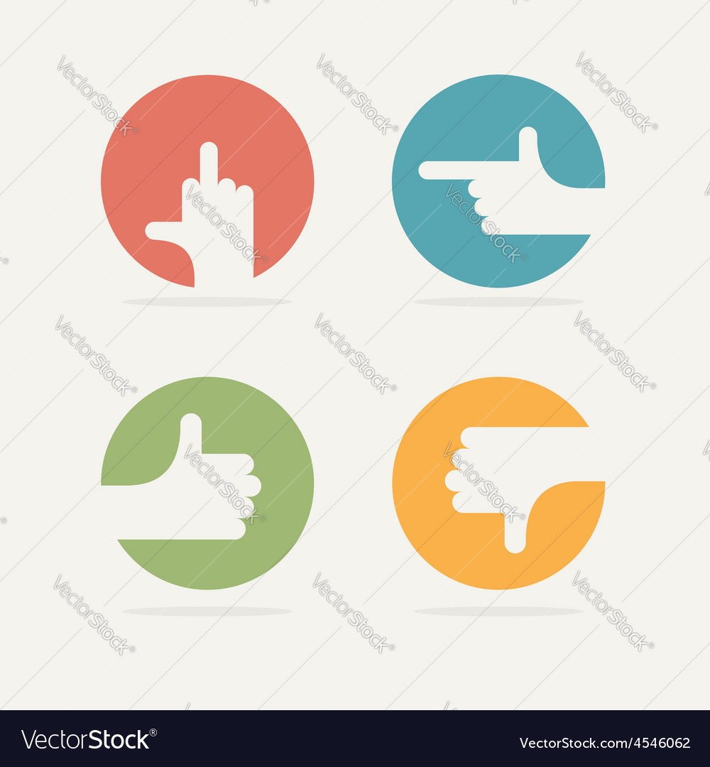 Set icon hand gestures fuck good bad left vector | Price: 1 Credit (USD $1)