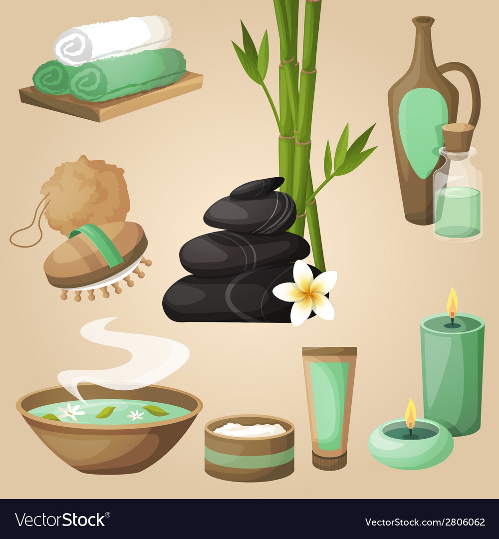 Spa icons concept vector | Price: 1 Credit (USD $1)