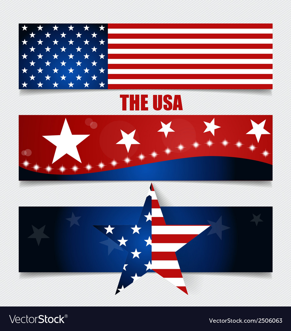 American flag flags concept design vector | Price: 1 Credit (USD $1)