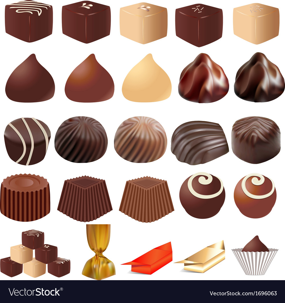 Assortment of different sweets vector | Price: 1 Credit (USD $1)