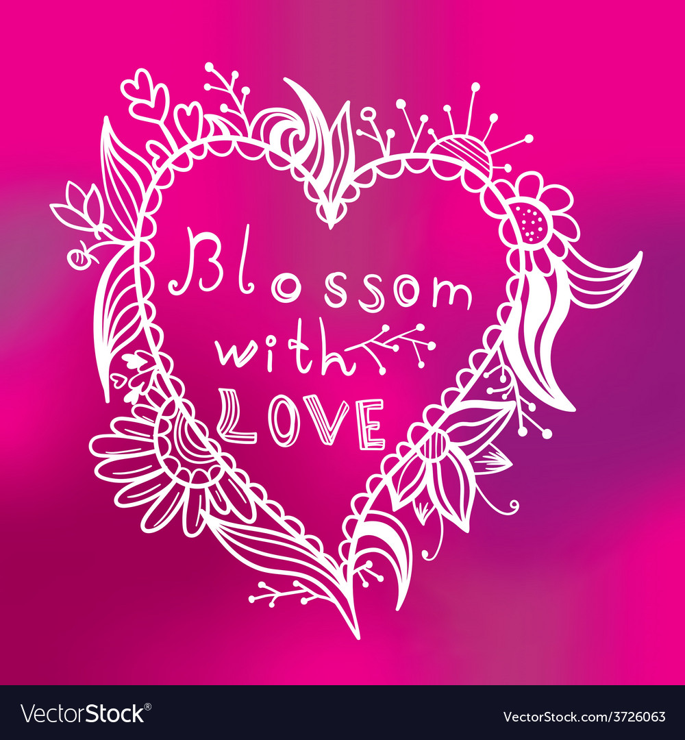 Blossom with love vector | Price: 1 Credit (USD $1)