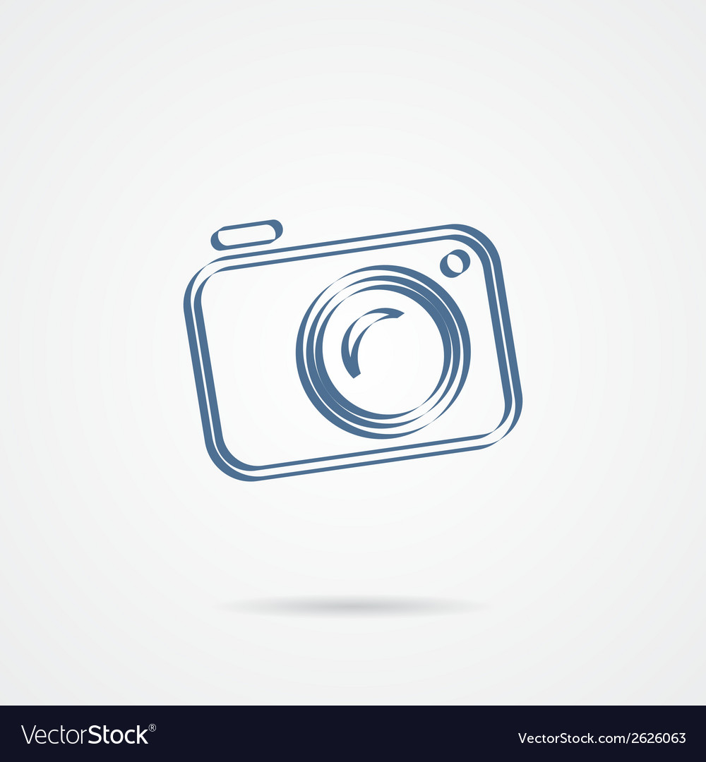 Camera icon isolated on a white background vector | Price: 1 Credit (USD $1)