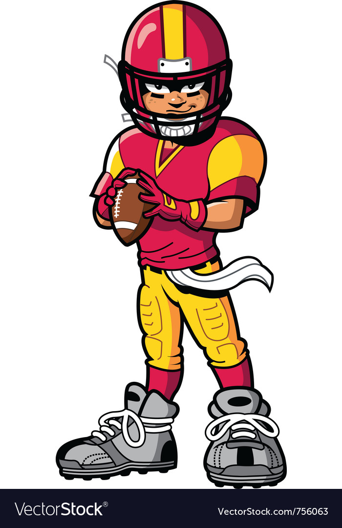 Football player vector | Price: 3 Credit (USD $3)