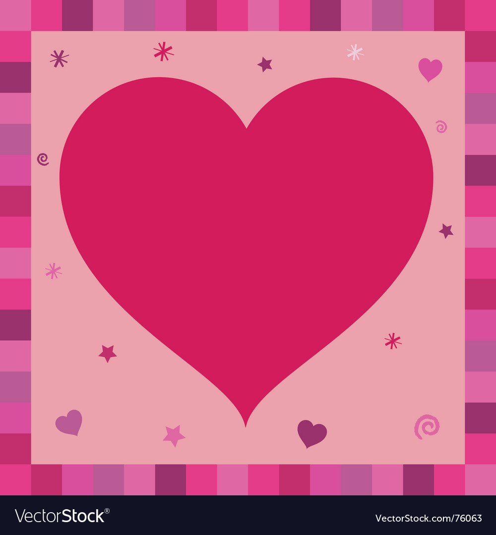 Heart greeting card vector | Price: 1 Credit (USD $1)