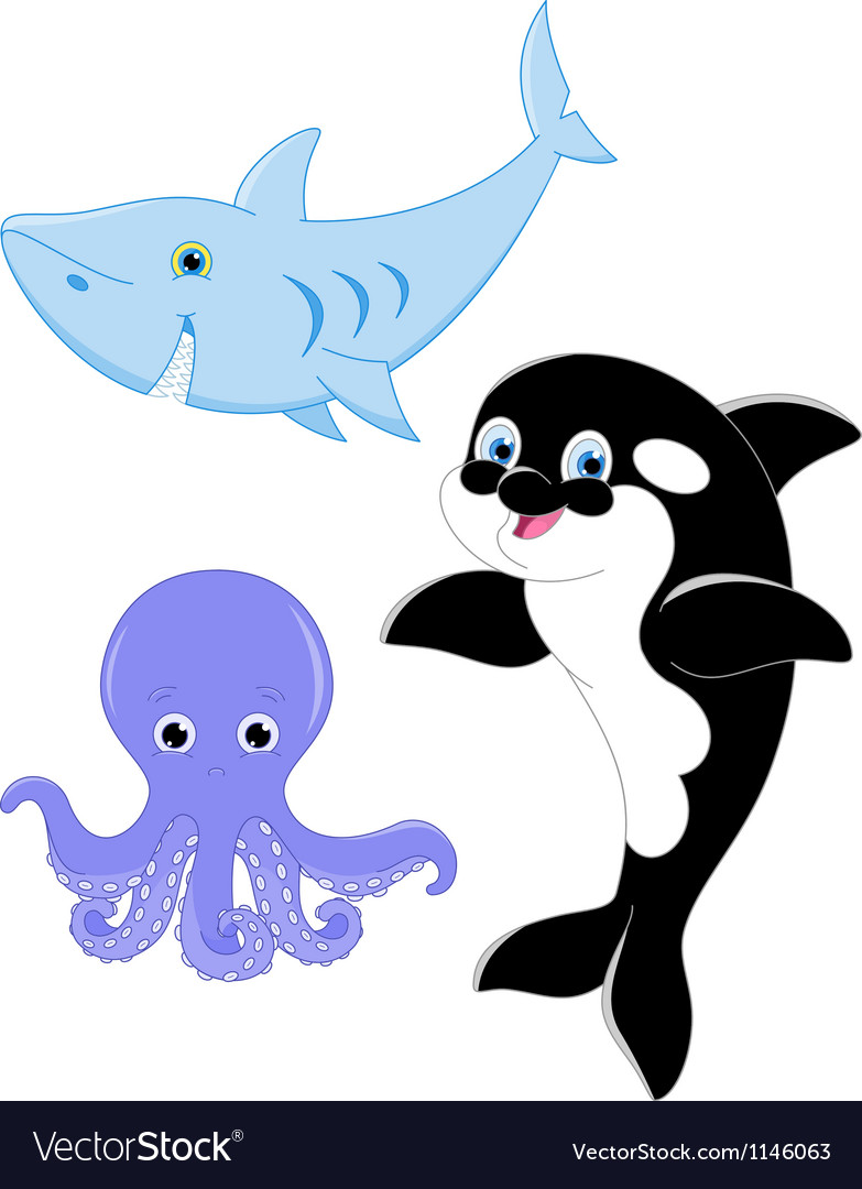 Marine animals vector | Price: 1 Credit (USD $1)