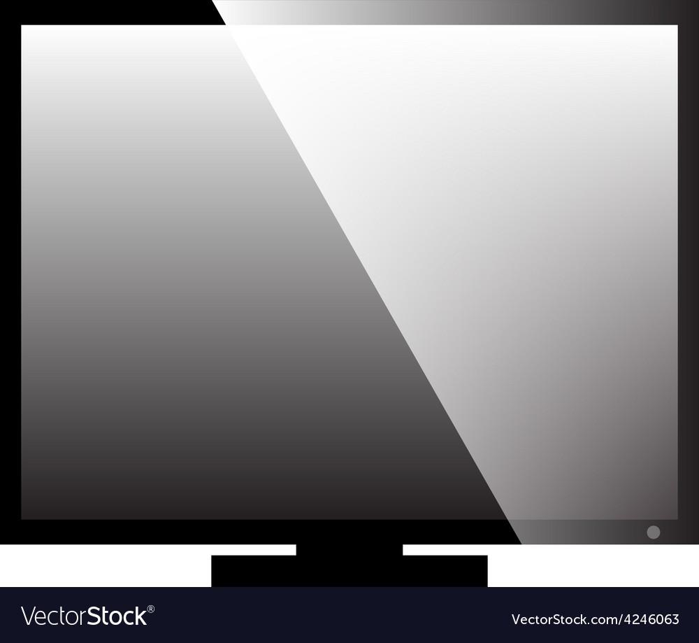 Monitor icon vector | Price: 1 Credit (USD $1)