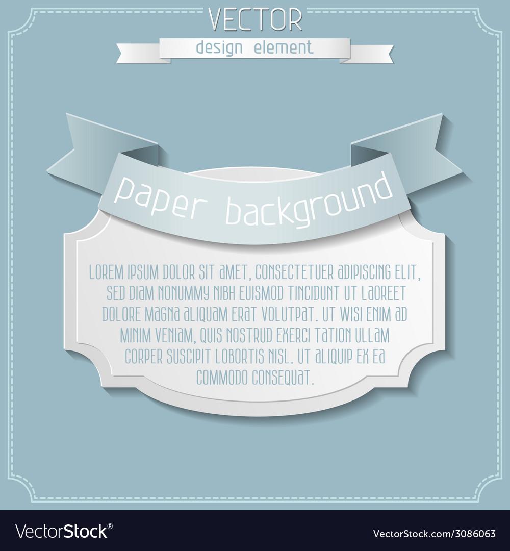 Paper label design vector | Price: 1 Credit (USD $1)