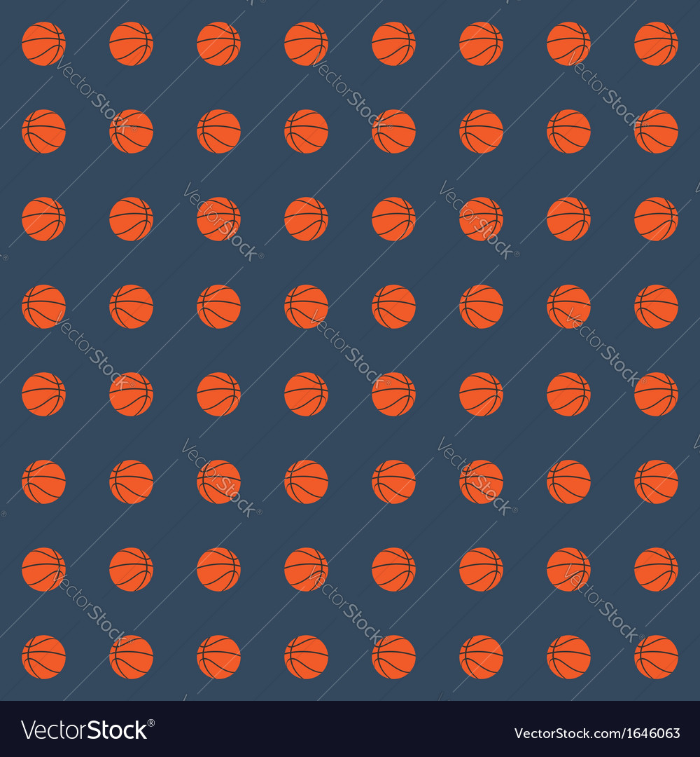 Seamless pattern with basketball balls vector | Price: 1 Credit (USD $1)