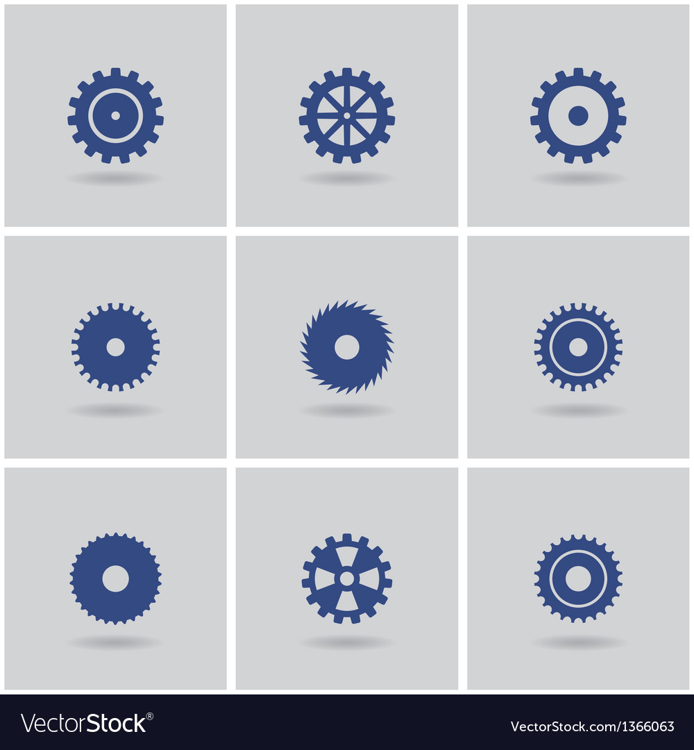 Set of gears vector | Price: 1 Credit (USD $1)