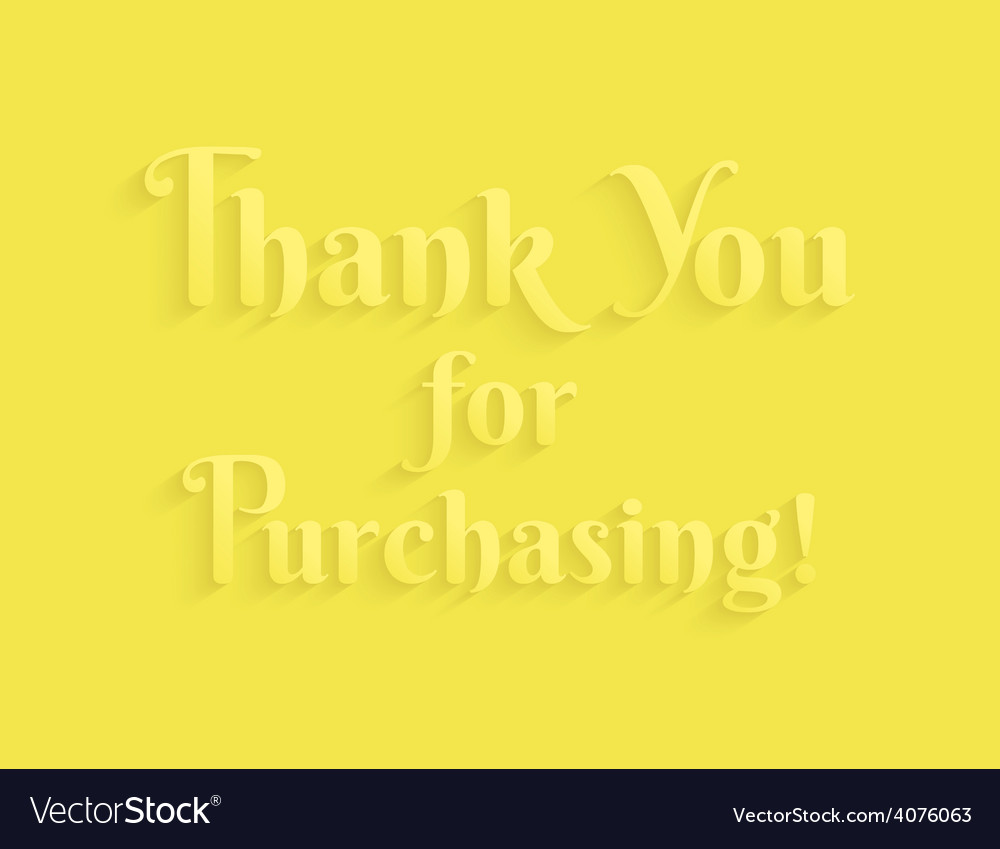 Thank you message vector | Price: 1 Credit (USD $1)