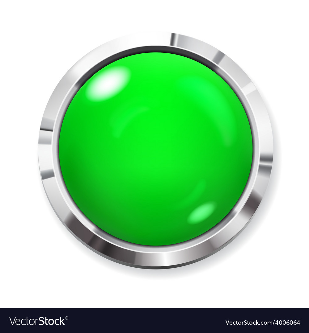 Big green button vector | Price: 1 Credit (USD $1)