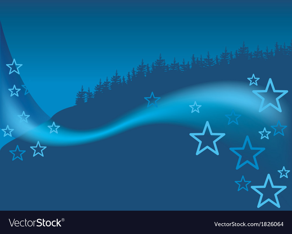 Blue christmas forest vector | Price: 1 Credit (USD $1)
