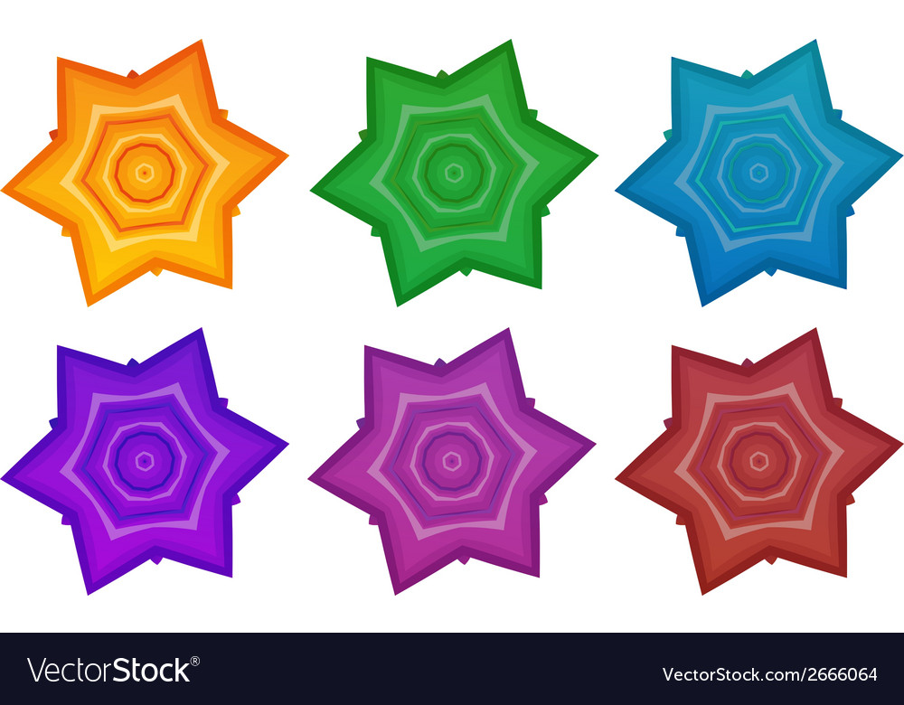 Colourful stars vector | Price: 1 Credit (USD $1)