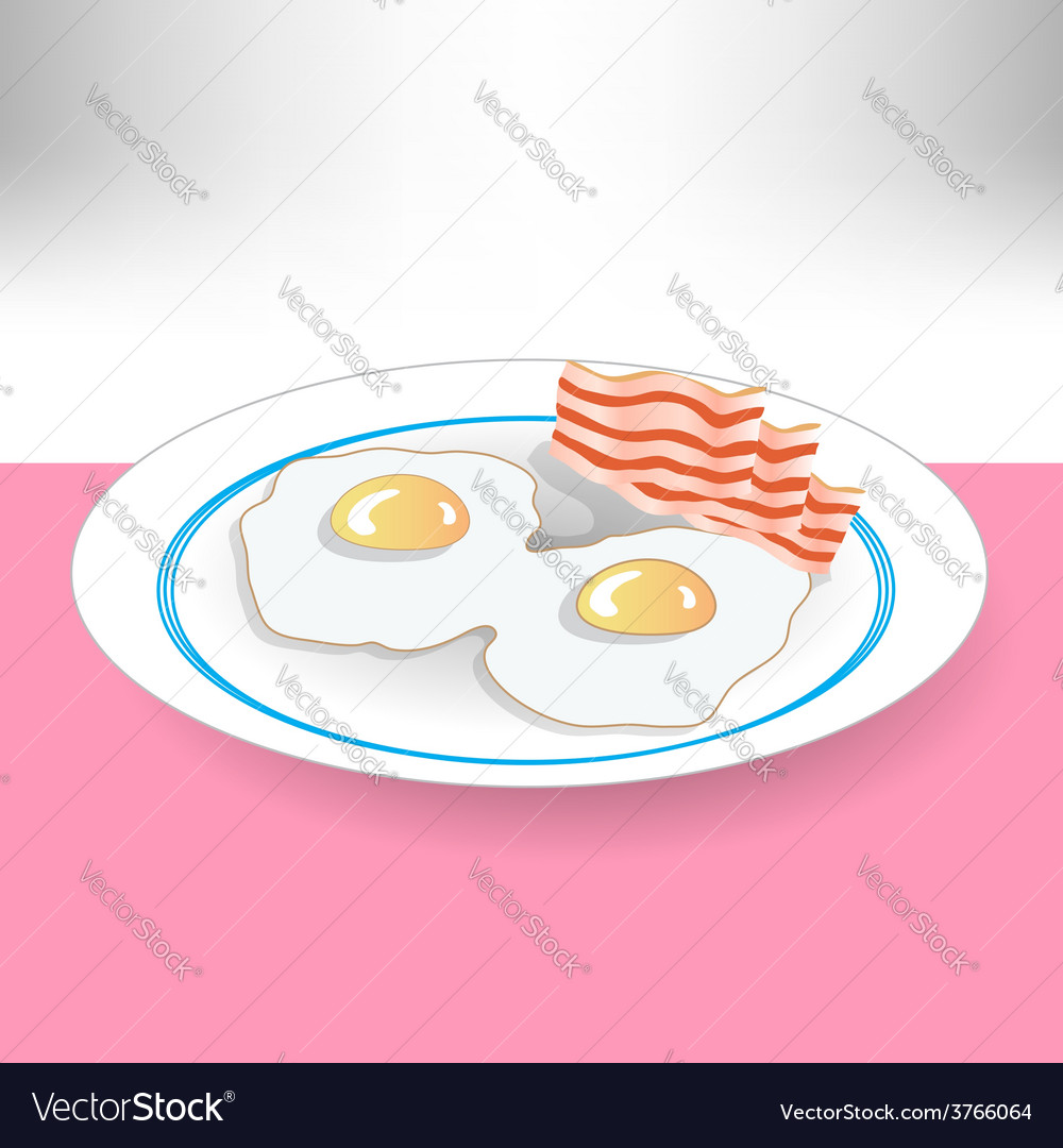 Eggs and beacon vector | Price: 1 Credit (USD $1)