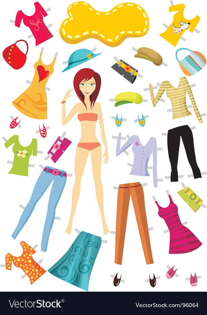 Fashion girl set vector | Price: 3 Credit (USD $3)