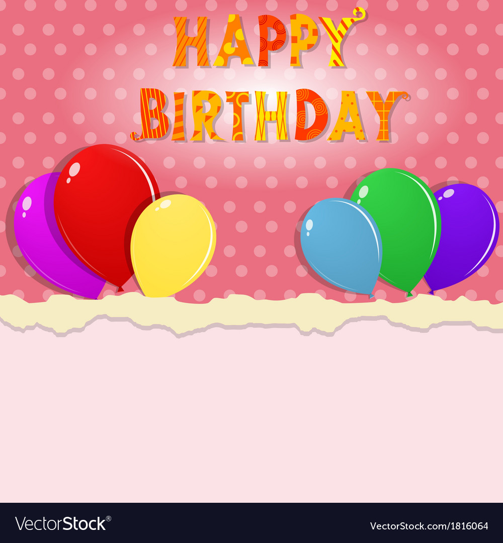 Happy birthday banner vector | Price: 1 Credit (USD $1)