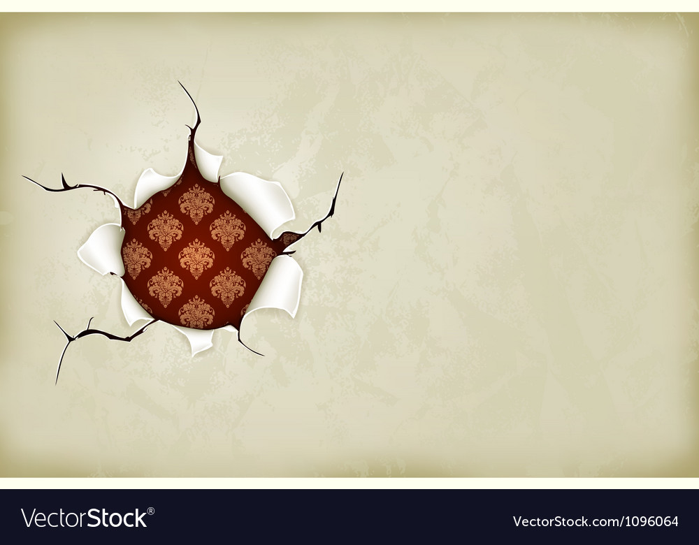 Hole in the paper vector | Price: 1 Credit (USD $1)
