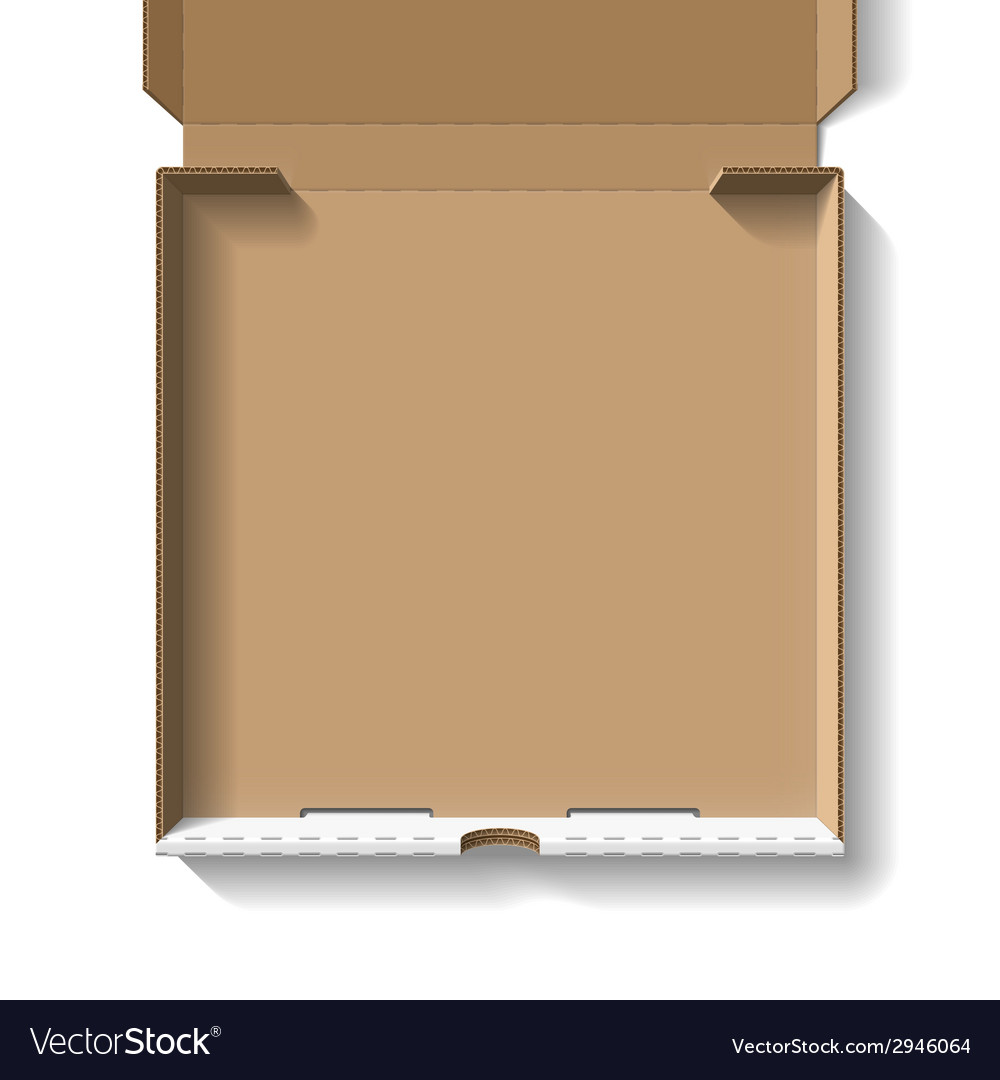 Open pizza box vector | Price: 1 Credit (USD $1)