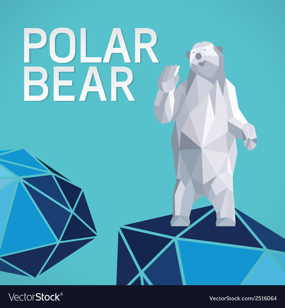 Polar bear stylized triangle vector | Price: 1 Credit (USD $1)
