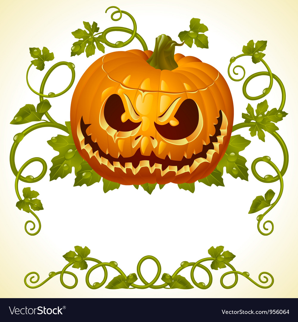 Pumpkin jack vintage pattern vector | Price: 3 Credit (USD $3)
