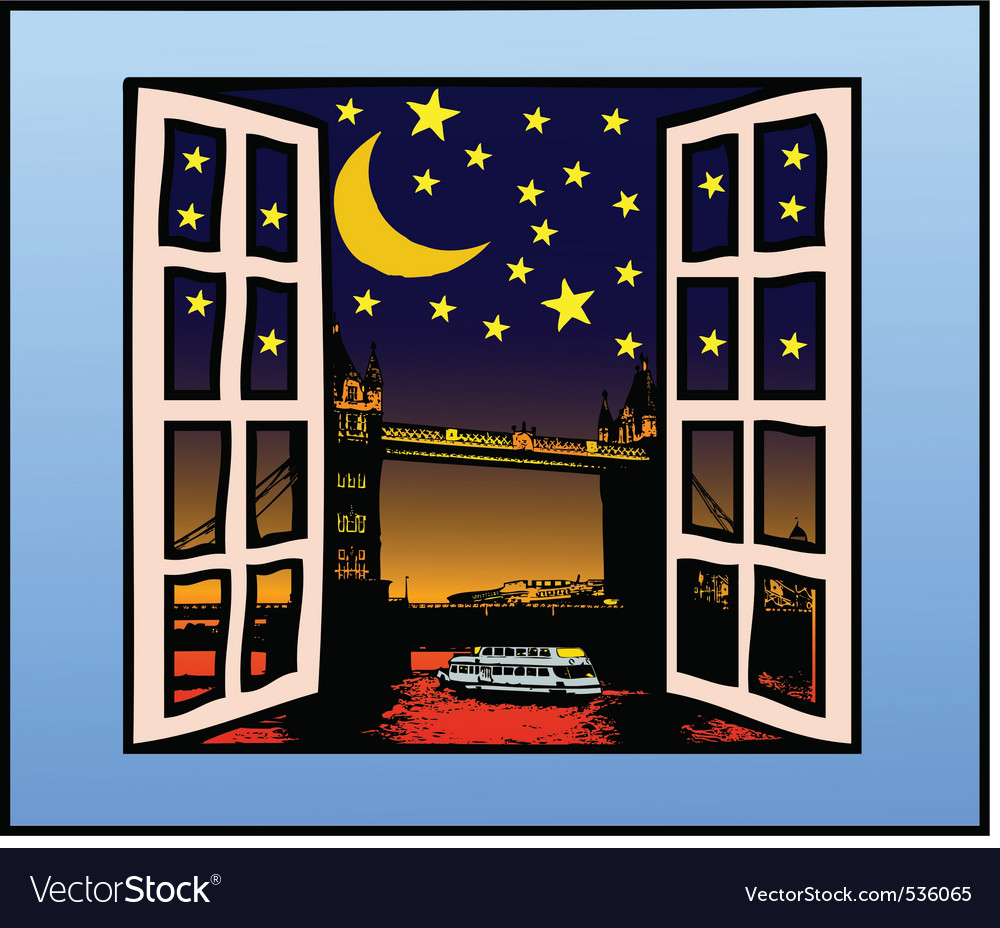 A window on the london vector | Price: 1 Credit (USD $1)