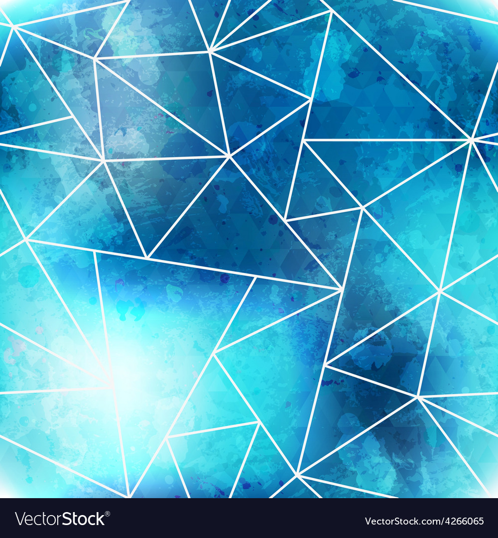 Blue triangle seamless pattern with grunge effect vector | Price: 1 Credit (USD $1)