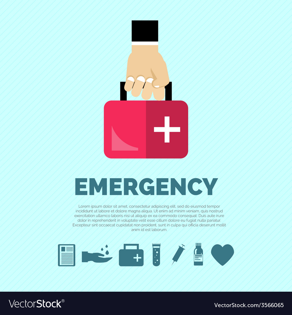 Emergency concept flat vector | Price: 1 Credit (USD $1)