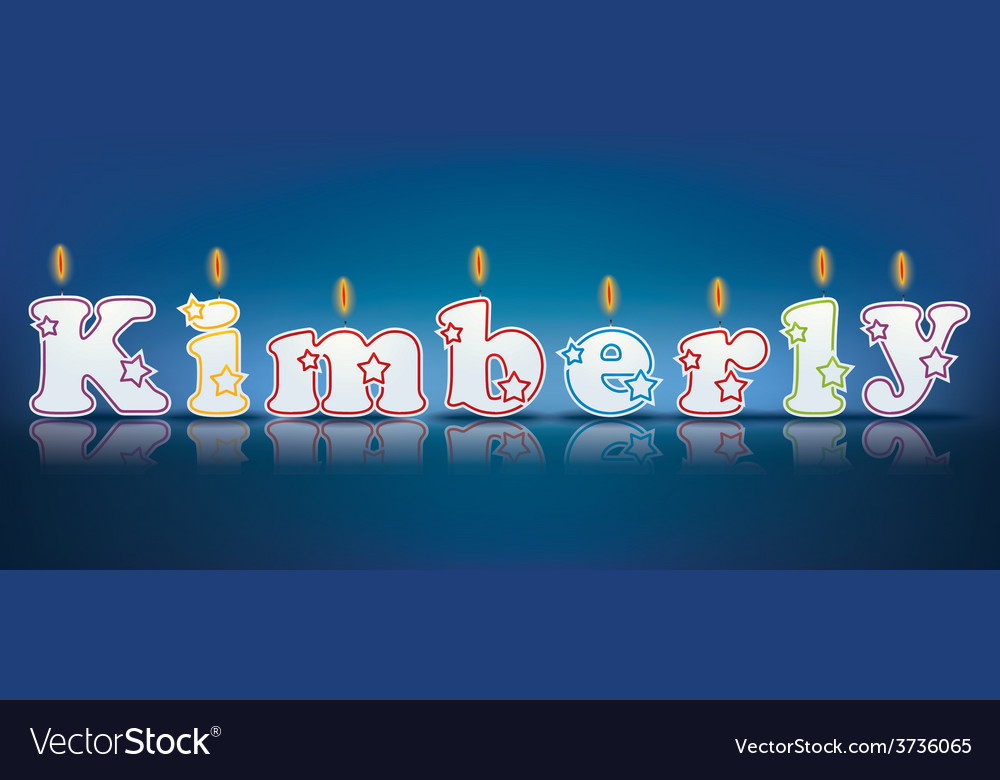 Kimberly written with burning candles vector | Price: 1 Credit (USD $1)
