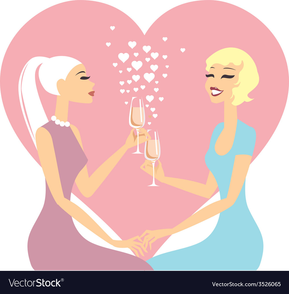 Lesbian couple vector | Price: 1 Credit (USD $1)