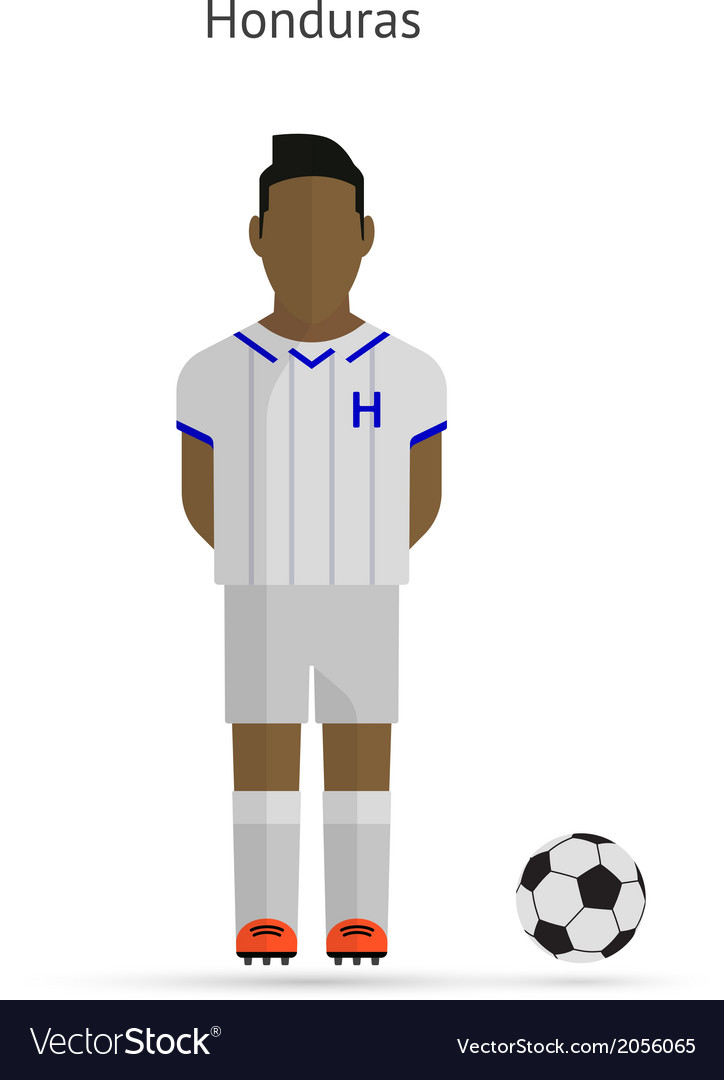 National football player honduras soccer team vector   Price: 1 Credit (USD $1)