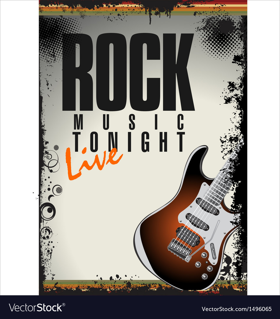 Rock concert background vector | Price: 1 Credit (USD $1)