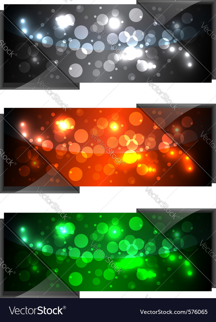 Shiny modern banners vector | Price: 1 Credit (USD $1)