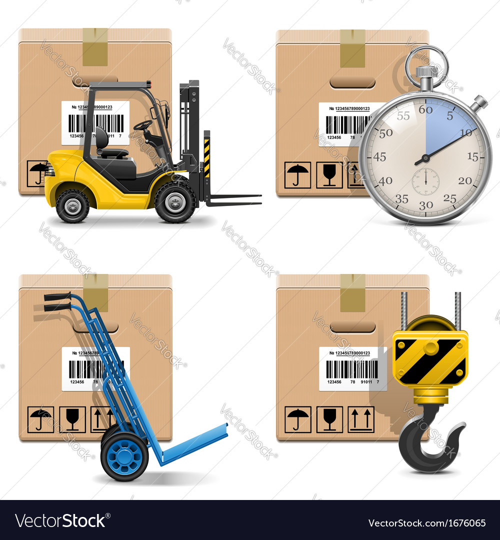 Shipment icons set 12 vector | Price: 1 Credit (USD $1)